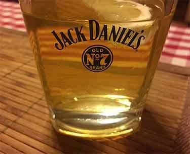 Jack Daniels whiskey glass